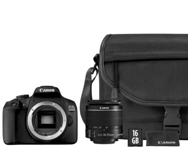 🇮🇹Canon Eos 2000D + EF-S 18-55mm IS II VALUE PACK + Borsa + Memoria + Panno €375 Hai Un Prezzo Migliore?... Contattaci !!☎️