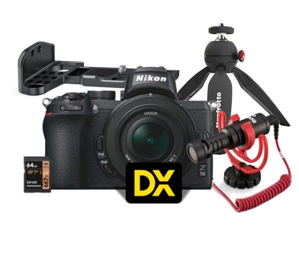 🇮🇹Nikon Z50 + Z DX 16-50 VR + Microfono + Rig + Treppiedi + SD 64GB Lexar Vlogger Kit €1065 Sconto Cassa €50 Prezzo Finale €1015